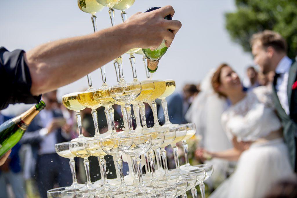 Champagnetoren Bruiloft